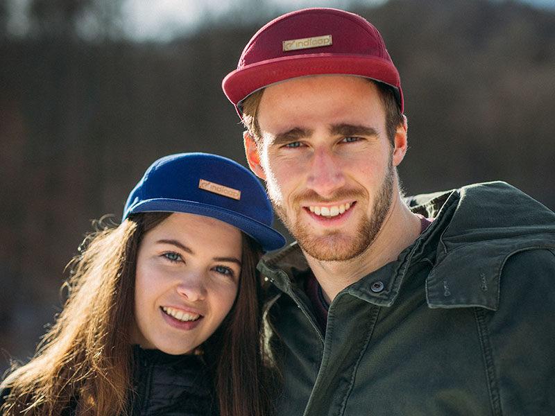 Unser Modell yoho. Nachhaltige, umweltverträgliche Caps für Mann und Frau.